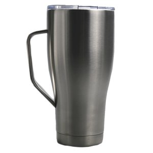 20oz Stainless Steel Curved Tumbler Heat Insulation Coffee Mug Double-walled Large Volume Tumbler Cup with Lid & Straw A09 by FEDEX