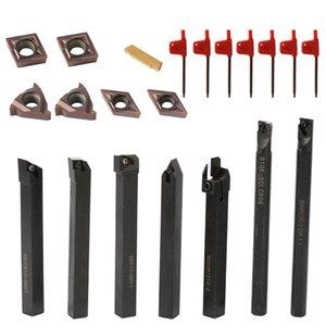 Инструменты 21ШТ 10мм токарный инструмент твердосплавные вставки держатель Расточной брус с ключами для токарного станка токарные инструменты резак