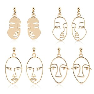 Newest Designer Face Earrings Statement Drop Earrings for Women Girls 2020 New Fashion Jewelry INS Style