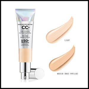 EPACK caliente del maquillaje CC + corrección de color de Cobertura Total Crema 32ml Fundación sin aceite Su piel mejor luz media de la gota libre