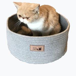 Cat Claw Brett Non Sticky Haar Gemütlich Herausnehmbare waschbare Hand Made Cotton RopeTwo Farboptionen