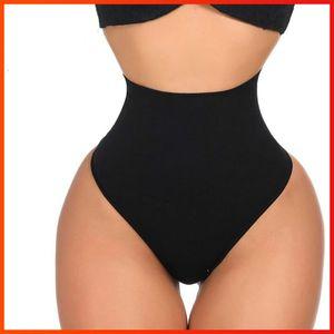 높은 허리 쉐이프웨어 여성 허리 트레이너 식사는 몸 셰이퍼 슬리밍 제어 팬티 끈 G 스트링 엉덩이 리프터 원활한 팬티