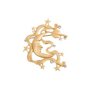 20SS Ay Şekli Broş Bayan Retro elmas Broş Tide Aşıklar Broş Moda iğneler Kızlar Takı Ücretsiz Kargo