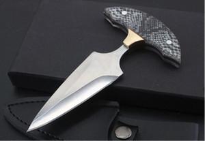 남자 a2368에 대한 자기 존중 전쟁 늑대 손 찔린 가시 푸시 나이프 핸들 캠핑 전술 나이프 EDC 나이프 크리스마스 선물
