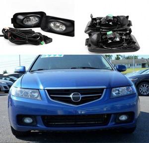Luces de luces antiniebla de reemplazo de estilo OEM del automóvil con bulbo + interruptor + cable / 1Set para Honda ACURA TSX 2003-2005