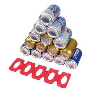 Faltbare Weinflasche Rack-Bier-Dosen-Behälter Kühlschrank Silikon-Pads Fliese Kissen Storage Rack Space Saver Getränke Lagerung Regal Heiße Verkäufe
