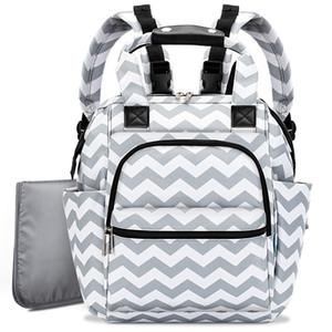 Schwangerschafts-Windel-Tasche Mom Rucksack Wickeltasche-Licht-Spaziergänger-Beutel mit Wickelauflage Baby-Rucksäcke Kinderwagen Mutter Rucksack