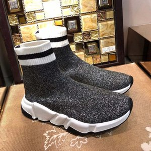 Designer Luxury Sock Shoe Speed Trainer Running Sneakers Speed Trainer Sock Race Runners Black Shoes Men Women Sports Shoes 36-45 I54