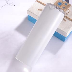DIY sublimação magro copo 20 onças de aço inoxidável tumbler magro copos retos vácuo caneca do curso isolados melhor presente