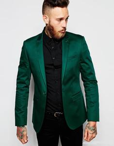 Los nuevos Mens del verde 2019 trajes de diseño italiano Trajes de boda del novio mejor hombre del traje esmoquin Mariage Homme para los hombres