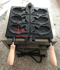 Frete grátis Custo GLP tipo de gás 3 pcs Big Taiyaki máquina do fabricante fabricante de Peixe Waffle