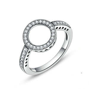 Diamond Ring Halo Ring Couples Fashion Girls Jewelry Valentine's Day Birthday Gift Women's Ring Engagement Rings