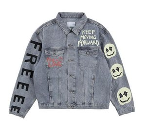 Kanye West giyim sahil Denim Ceket Erkekler Kadınlar Yüksek Kalite Kanye West ÇOCUKLAR GDA HAYALETLERİ Jacket38b1 #
