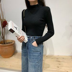 Lucyever Winter New Turtleneck Black Suéter Mujer Elasticity Slim Switted Women Simple Casual Solid Pull Femme Sweter