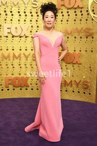 2019 Emmy Awards al largo della spalla Celebrity Dresses Mermiad sweep treno Red Carpet occasione convenzionale vestiti da partito di sera su ordine