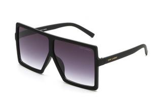 Yeni 183 marka stil büyük kare çerçeve güneş gözlüğü kadın erkek tasarımcı polarize ayna güneş gözlüğü ile logo ücretsiz kargo