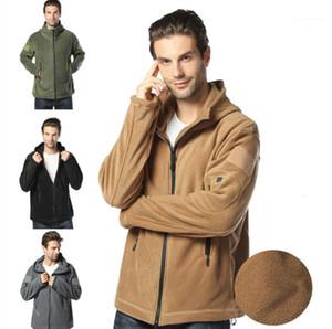 Rüzgarlık Ceket Sonbahar Bir Kış Erkek Casual Coats Artı boyutu Mens Tasarımcısı Ceket Casual Sıcak Fleece Kapşonlu