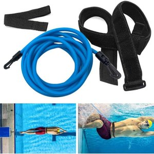 Professional Swim Training Belts 3m 4m Training Leash Swimming Tether Stationary Harness Static Bungee Cords Resistance Bands