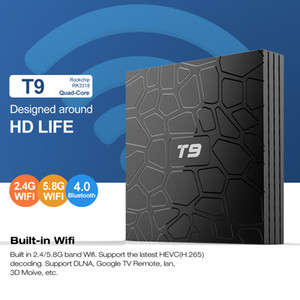 T9 Android 9.0 TV Box de 2 GB 16 GB RK3318 4k dual wifi Bluetooth4.0 Media Player vs H96 mini-max TX3