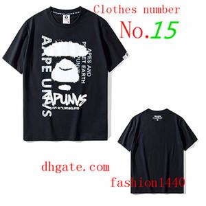 01 vêtements en coton Singes T-shirt à manches courtes rue femmes de la mode des hommes filles garçons l'été marque alliance singe hip hop dessin animé lettre impression