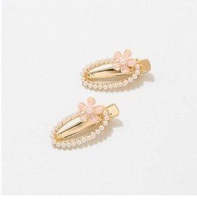 Sweet flower girls designer hair clips pearl women hair clips Boutique princess girls barrettes hair accessories for women BB clips B1305