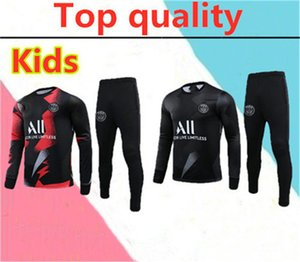 2020 2021 kids Paris AJ Jordam Half zipper training suit 2020 paris VERRATTI Survetement MBAPPE CAVANI POGBA soccer tracksuit