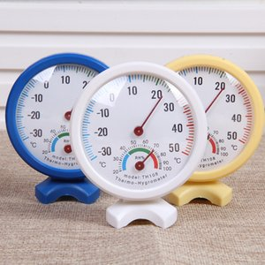3 Colors Round Shaped Mini Indoor Outdoor Analog Centigrade Thermometer Hygrometer Temperature Humidity Meter Wholesale