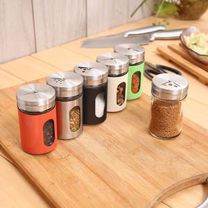 الدورية ثقوب هيرب سبايس الجرار البهارات وعاء الملح الفلفل تخزين الحاويات لأدوات المطبخ بالجملة