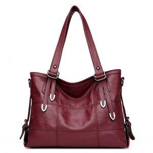 ACELURE Womens suave PU de couro Bolsas High Capacity sacos de ombro para as Mulheres Mensageiro Crossbody BagsTop-handle Bags