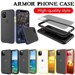 Caso claro para iPhone 11 XS MAX XR 11 PRO MAX Samsung S20 nota 10 Pro S10 A71 A01 Armor Case