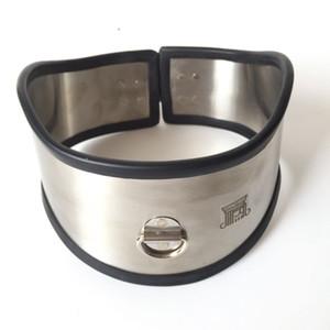 Wholesale Stainless Steel Metal Neck Sheath Slave Collar Ring for Men and Women Alternative Sex Toys SM Bondage Flirting with Padlock