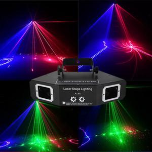 Bar Party Disco Laser Light RGB Full Color Feixe de luz DMX DJ Effect Scanner Scanner Laser Stage Flash Lighting Christmas Decoration