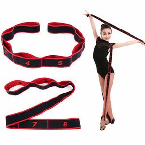 Yoga Stretch Strap Latin Dance Elastic Elasticizzato Vita Esercizio Tirare la cinghia di yoga di resistenza Fitness Band adulti bambini unisex di balletto, Pilates