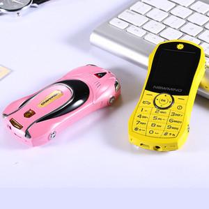 Moda tasarımı Unlocked bar küçük boyutlu Çift sim kart Araba cep telefonu araba şekli model telefon lüks düşük fiyat metal cep telefonu ÜCRETSIZ NAKLIYE