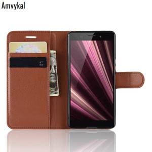 Amvykal Wallet Leather Case For Sony XZS XZ1 XZ2 XZ3 XZ4 Compact Premium XA2 XA1 Plus Ultra L2 Flip Book Phone Bag Cover