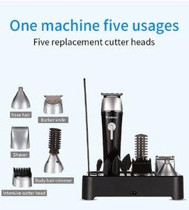 5 в 1 Стрижка Kit Set Аккумуляторные машинки для стрижки волос, Электрический Beard Trimmer лучшие стрижки для конструкций