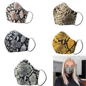 Leopard Print Maschere Moda maschere antipolvere lavabile Viso donne bocca riutilizzabile Designer maschera di protezione DHL