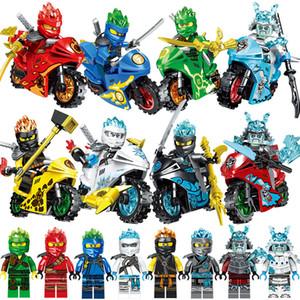 ile uyumlu Motosiklet Kai Jay Zane Cole Lloyd FS Samurai Mini Oyuncak Action Figure Yapı Taşı Tuğla Toy ile Yeni Güçlü Ninja