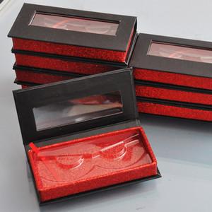 20pcs al por mayor de la caja de embalaje de la pestaña falsa falsos personalizado 3d cajas de pestañas de visón faux cils caso contenedor magnético vacían