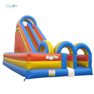 Large Size Inflatable Slide Double Lanes Water Park Slide For Sale
