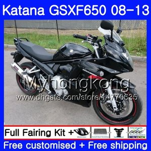 Cuerpo para SUZUKI KATANA GSXF 650 GSX 650F GSX650F 08 09 10 11 12 13 303HM.0 GSXF650 2008 2009 2010 2011 2012 2013 Carenados TODOS Negro brillante