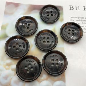 25 mm rond Bouton résine avec bouton Stamp Designer Lettre Diy Accessoires Outils de couture en gros de haute qualité