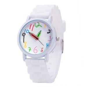 سيليكون ووتش الأطفال ساعات قلم الكرتون لطيف الاطفال رياضة المرأة كوارتز ساعة السيدات ساعة اليد فتاة بوي هدية