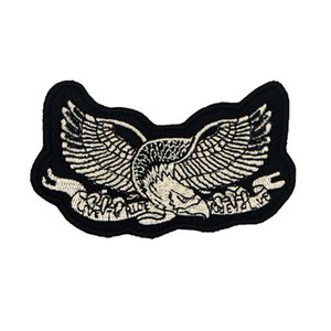LIVE TO RIDE eagle embroidered iron on backing motorcycle biker patch badge for jacket jeans bags vest 10 pieces  LOT