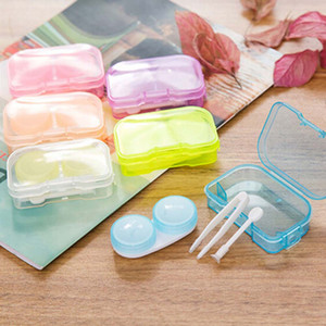 플라스틱 콘택트 렌즈 케이스 임의의 색상 투명 포켓 여행 키트 쉬운 컨테이너 홀더 DLH329를 타고