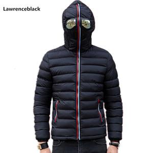 Lawrenceblack invierno chaquetas de los hombres Parkas Coat para hombre con los vidrios acolchada chaqueta con capucha caliente Camperas niños a prueba de viento acolchado 839 S191019
