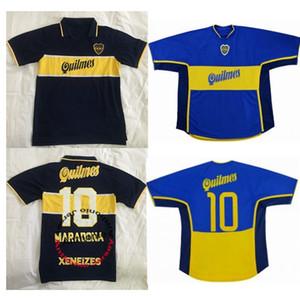 1997 98 jóvenes retro clásico Boca 2000 jerseys del fútbol de 2001 Diego Maradona camiseta de fútbol Román Riquelme Tailandia fútbol jerseys uniformes