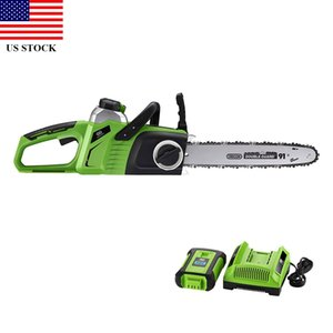 14 '' Chainsaw 40V Max Lithium-Ion Brushless Cordless elétrica 4.0AH e Bateria Incluir H0012 US transporte Stock RÁPIDO