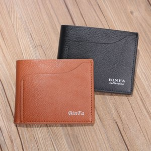 Wallet for Credit Cards Mens Wallet PU Genuine High Quality Wallets with Card Holder Money Clip 2018 New Men's Purse Small Vallet