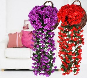 Living Room Decoration Wall Hanging Artificial Vine 90cm Violet vine hanging Simulation Violet Orchid Fake Silk Vine Flowers